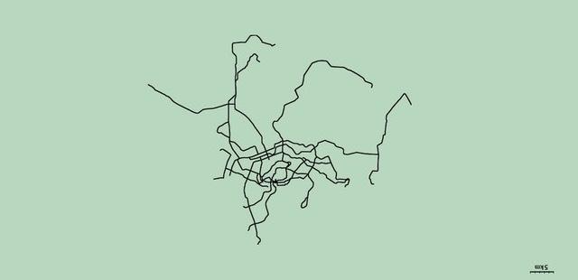 Unlabeled subway maps