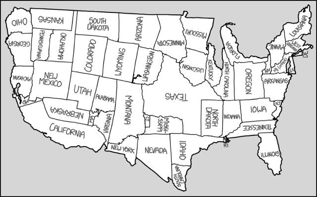 US Scrambled Map
