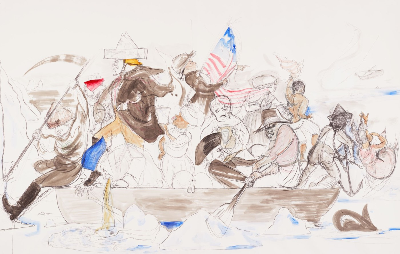 "Kara Walker reimagines ""Washington Crossing the Delaware"""