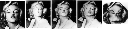 Weegee images of Marilyn Monroe