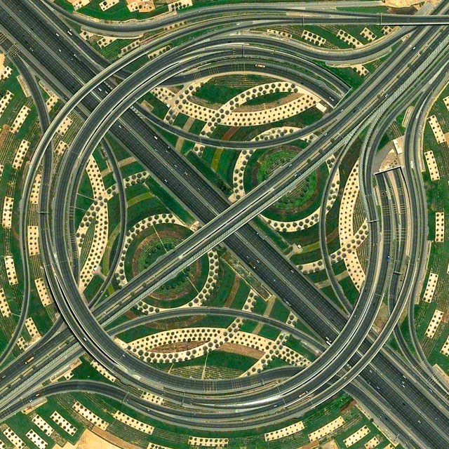 http://kottke.org/15/01/crazy-whirlpool-traffic-interchange-in-dubai