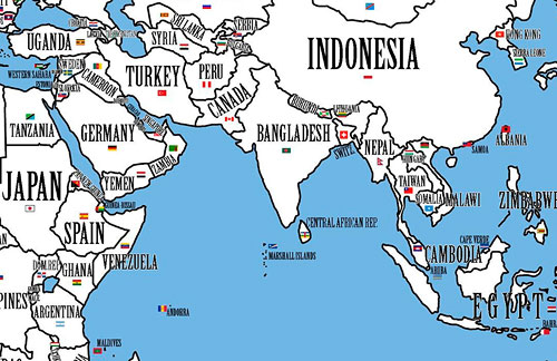 Simple world map with country names sarimi blog simple world map with country names gumiabroncs Choice Image