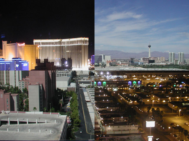 vegas in the day and vegas in the night