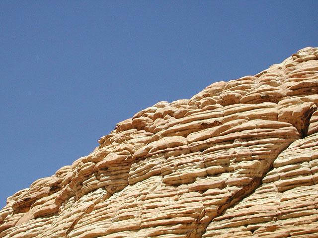 white sandstone, blue sky